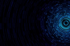Blue-Circular-Abstract-Design-Pattern-Texture-Passage-Black-Digital-Ring-WallpapersByte-com-2560x1080
